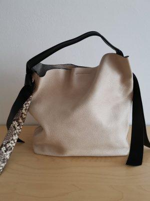 Gianni chiarini Shopper natural white-silver-colored leather