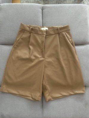 H&M High-Waist-Shorts beige polyester