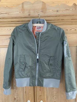 Schott NYC Bomber Jacket khaki nylon