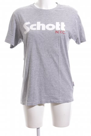 Schott T-Shirt meliert Casual-Look