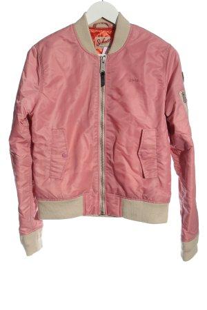 Schott Übergangsjacke pink-wollweiß Casual-Look