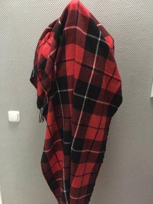 Gina Tricot Écharpe en laine noir-rouge