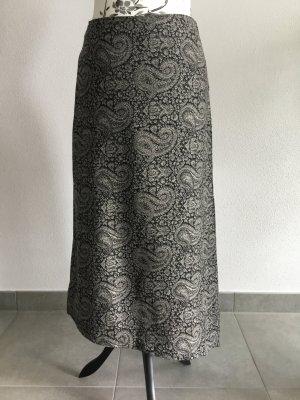 Sisley Asymetryczna spódniczka czarny-biały Wełna
