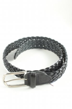 Schuchard & Friese Cinturón trenzado negro estilo «business»