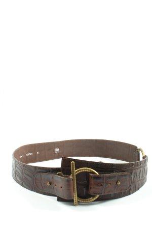 Schuchard & Friese Cinturón de cuero marrón estilo «business»
