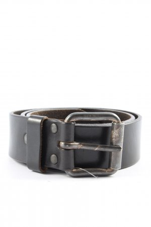 Schuchard & Friese Leather Belt black casual look