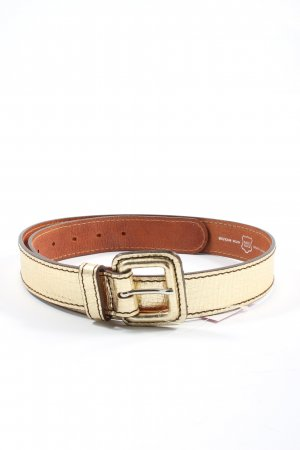 Schuchard & Friese Leather Belt gold-colored wet-look