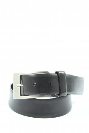Schuchard & Friese Leather Belt black-silver-colored casual look