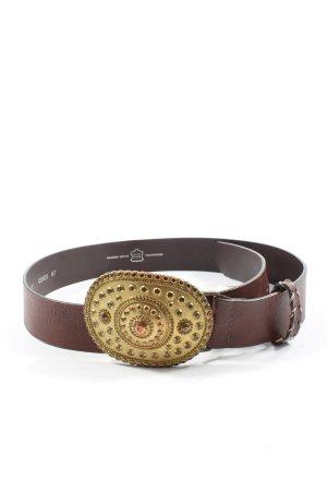Schuchard & Friese Cinturón de cuero marrón elegante