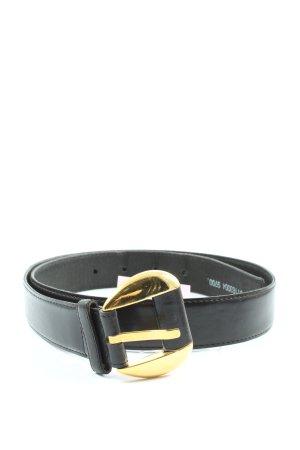 Schuchard & Friese Cinturón de cuero de imitación negro look casual