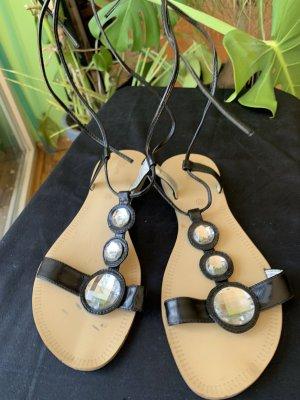 s.Oliver Romeinse sandalen zwart