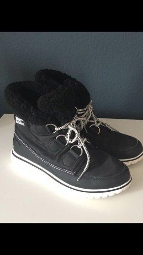 Sorel Bottes à lacets noir-blanc
