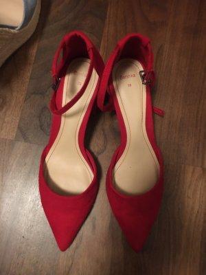 Bershka Cap Toes dark red