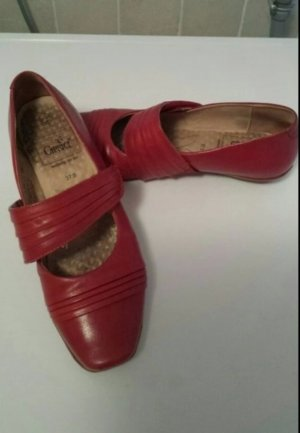 Caprice Strappy Ballerinas red