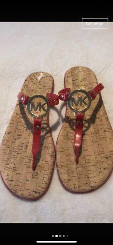 Michael Kors Flip-Flop Sandals red
