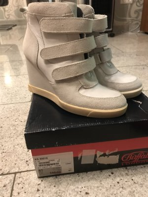 Buffalo Wedge Booties natural white