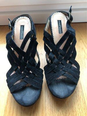 Görtz Shoes Sandales à plateforme bleu foncé