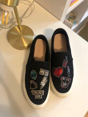 Pull & Bear Sandales confort noir