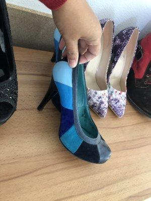 Zapatos Budapest azul neón-azul