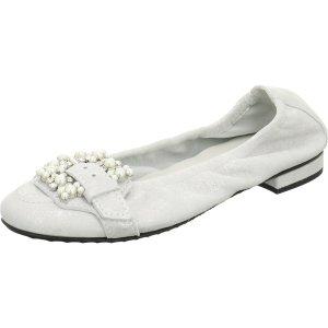 Kennel und Schmenger Patent Leather Ballerinas white leather