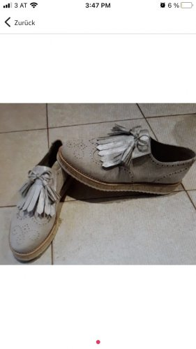 Zapatos sin cordones gris claro-marrón grisáceo