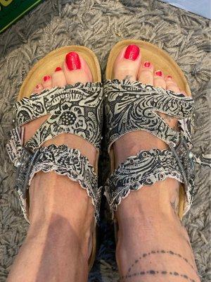 Sandalo comodo grigio-grigio chiaro