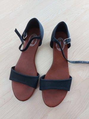 Sandalias para uso en exteriores negro-color bronce