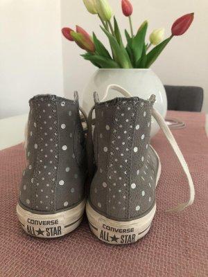 Converse Zapatos de patinador color plata tejido mezclado