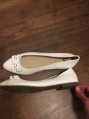 Patent Leather Ballerinas white