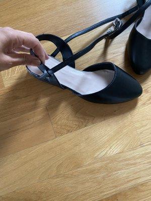 Schuhe 37 scwarz flache Schuhe Pumps Ballerina Zign Designer