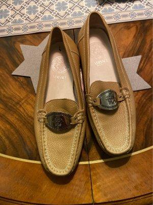 Gianni Versace Mocassins chameau cuir