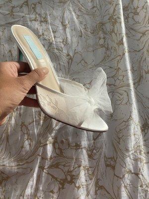 Schuhe 39 Mules Brautschuhe Braut weiß