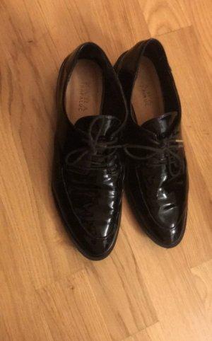 Schuhe 39 schwarz Lackschuhe