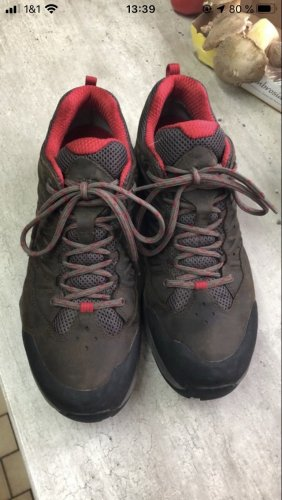 The North Face Lace Shoes dark brown-dark red
