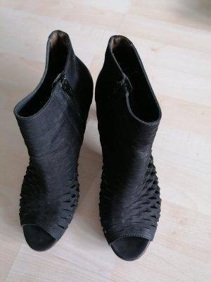 Paul Green Peep Toe Booties black
