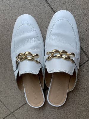 Bianco Slip-on Shoes white leather