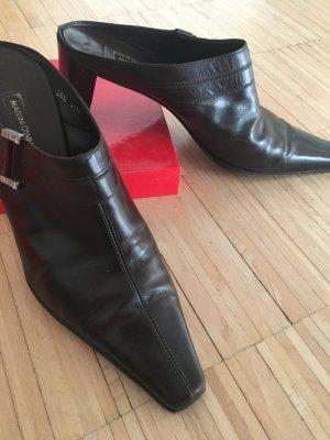 Martini Osvaldo Sabots dark brown leather