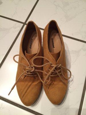 Graceland Lace Shoes cognac-coloured