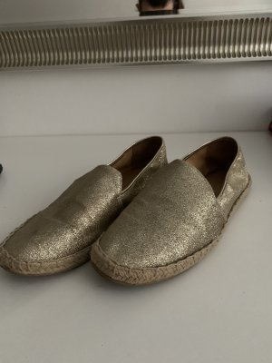 H&M Divided Slip-on Shoes gold-colored-beige