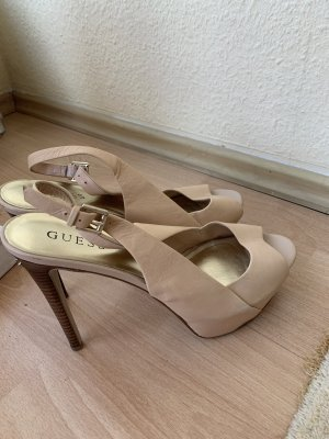 Guess High Heels nude leather