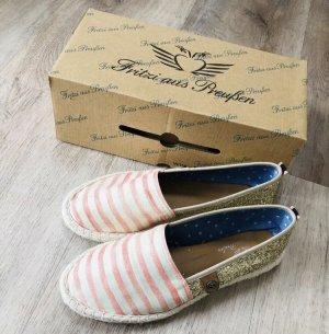 Fritzi aus preußen Slip-on Shoes cream-rose-gold-coloured