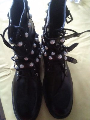Zara Woman Ankle Boots black leather