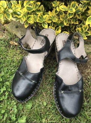 Plateauzool sandalen zwart