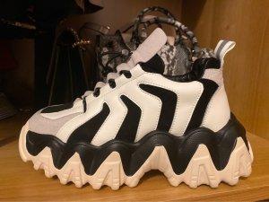 Chaussure skate noir-blanc cassé