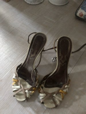 0039 Italy High Heels bronze-colored-yellow