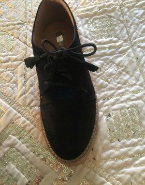 Zapatos de marinero negro-marrón
