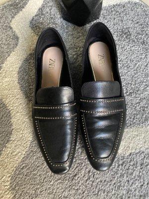 Zara Pantoffels zwart-goud