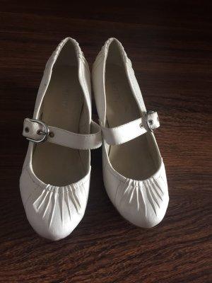 Ariane Chaussure à talons carrés blanc