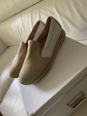 Franca Heel Pantolettes beige-white