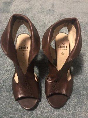 Caprice Comfort Sandals dark brown